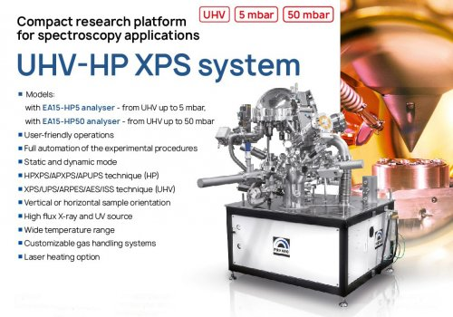 Advanced UHV High Pressure XPS systems